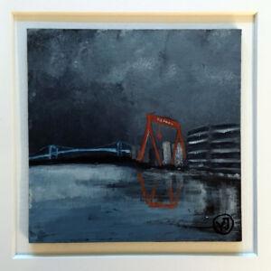 """""""Eriksberg"""" akryl på pannå 10 x 10 cm. 1450 kr."""