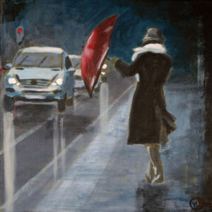 """""""Novemberregn"""" gicleétryck 26 x 26 cm. 950 kr."""
