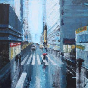 Regnig stad